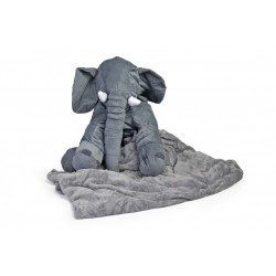 Nuovo Ellie Cushion with Blanket Grey