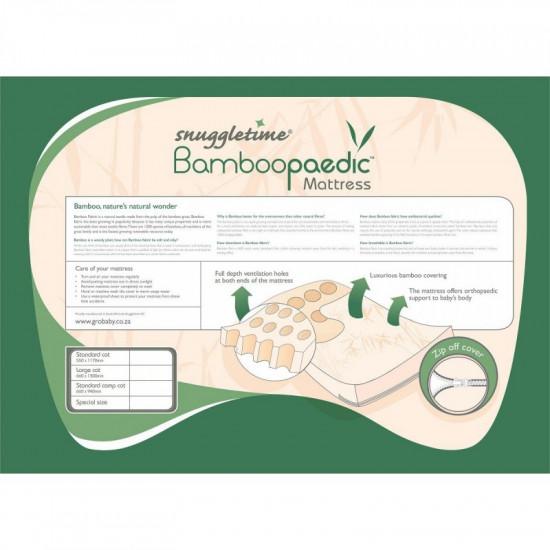 SNUGGLETIME BAMBOOPAEDIC MATTRESS STANDARD CAMP COT