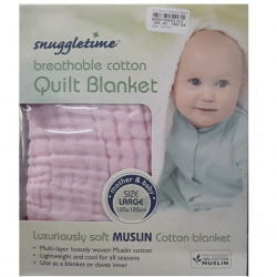 Snuggletime Breathable Cotton Quilt Pink