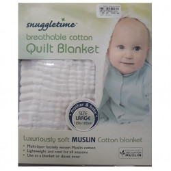 Snuggletime Breathable Cotton Quilt White
