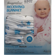 Snuggletime Breathable Cotton Receiving Blanket