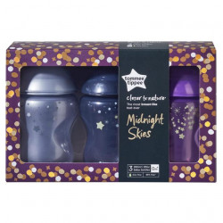 Tommee Tippee Midnight Skies 3pk Decorated Bottles