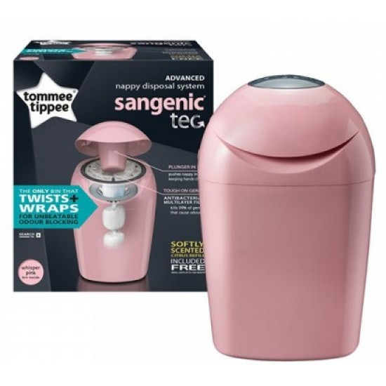 Tommee Tippee Sangenic Tec Nappy Disposal Tub (Pink)