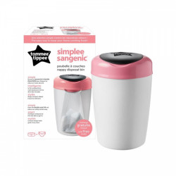 Tommee Tippee Simplee Sangenic Nappy Disposal Bin - Pink