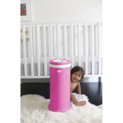Ubbi Steel Odor Locking Diaper Pail Hot Pink