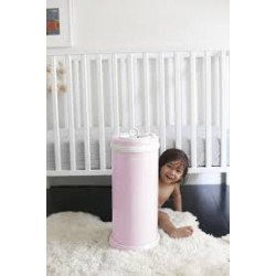 UBBI STEEL ODOR LOCKING DIAPER PAIL LIGHT PINK