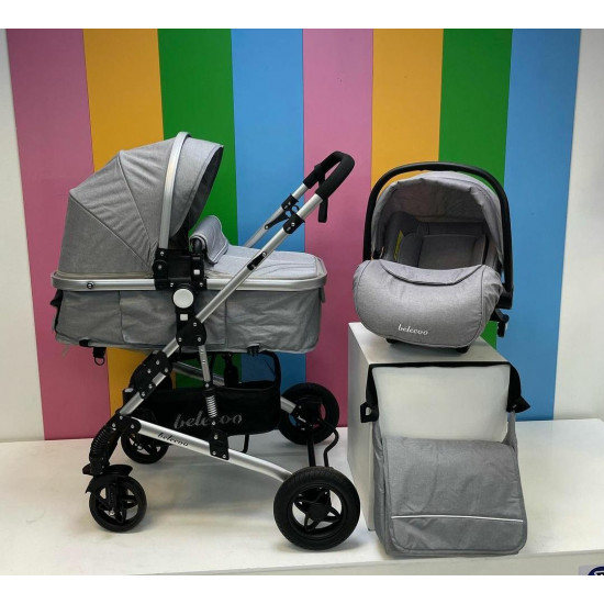 Belecoo 3in1 Travel System Grey