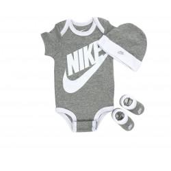 NIKE BABY GREY 3 PIECE INFANT SET FUTURA GREY